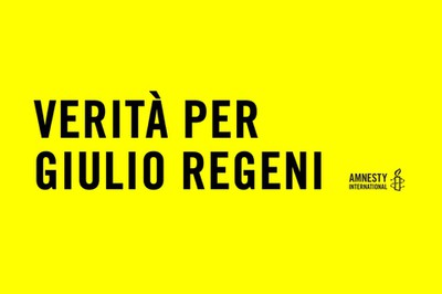 Verità per Giulio Regeni - Amnesty International